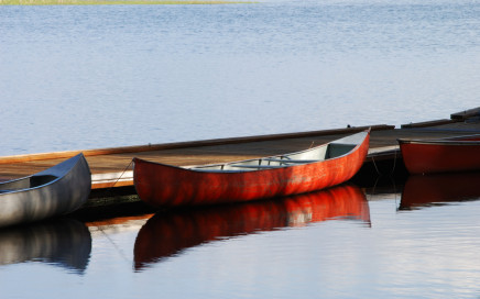 canoe at dock
